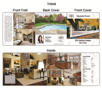 "Real Estate Flyer Trifold 5.5"" x 5.5"" 5005"