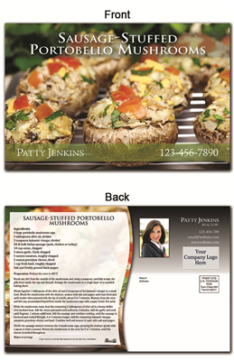 KIT Recipes: Main Dishes: Sausage Stuffed Mushrooms
