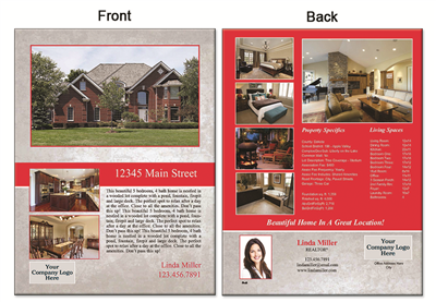 "Real Estate Flyer 8.5""X11"" 3009B"""