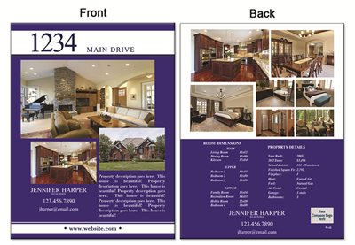 "Real Estate Flyer 8.5""X11"" 3004B"""