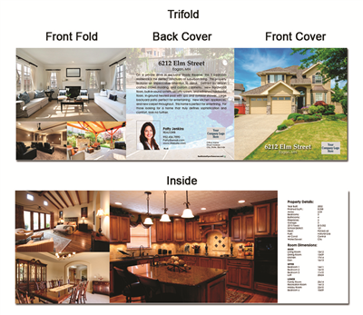 "Real Estate Flyer Trifold 5.5"" x 5.5"" 5002"