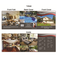 "Real Estate Flyer Trifold 5.5"" x 5.5"" 5006"