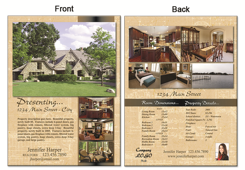 real estate flyer 8 5 x11 2997