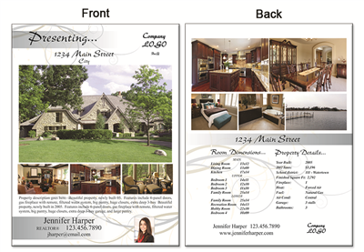 "Real Estate Flyer 8.5""X11"" 2998"""