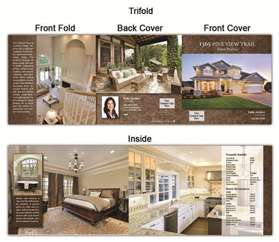 "Real Estate Flyer Trifold 5.5"" x 5.5"" 5004"