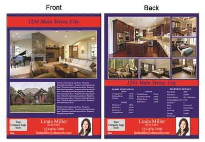 "Real Estate Flyer 8.5""X11"" 3001A"""